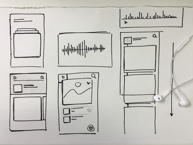 Paper interface sketches